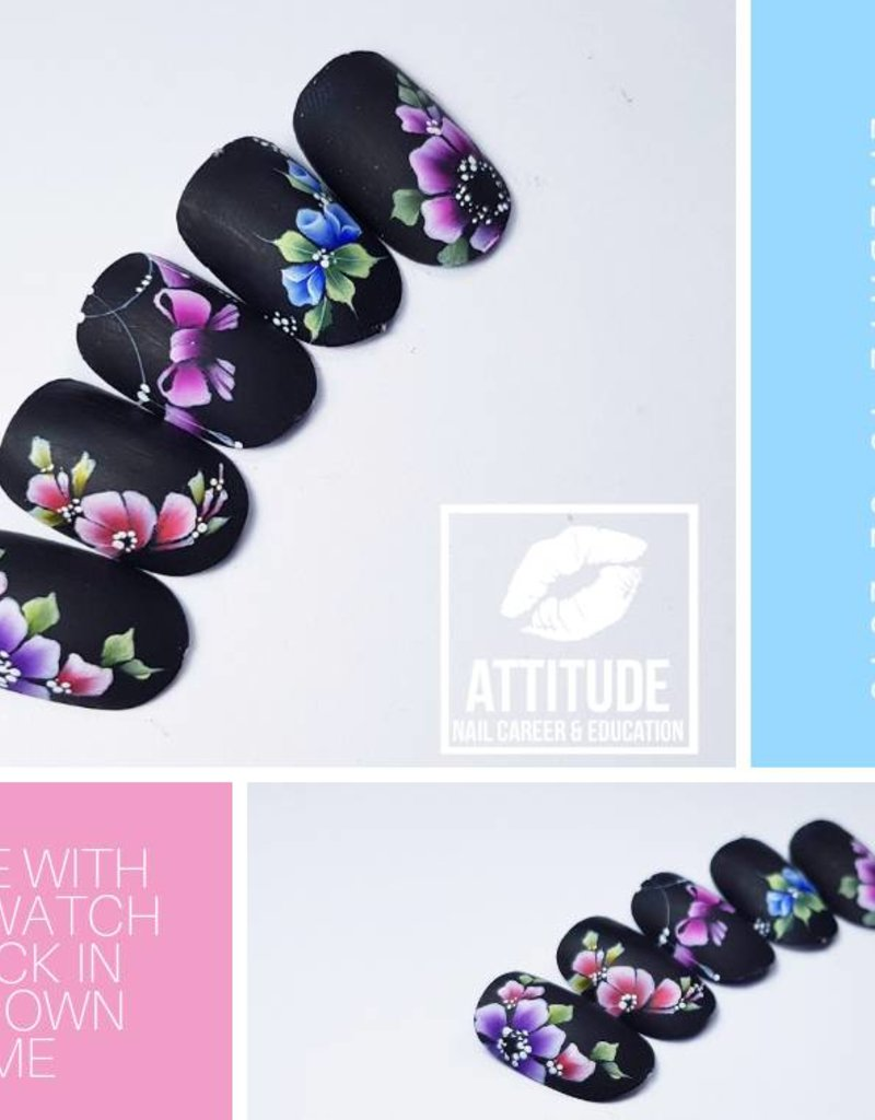 Online Nailart Course | One stroke Nail art | One Move