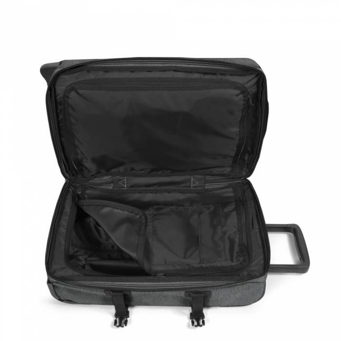 Eastpak Eastpak Tranverz S Black Denim Handbagage reistas met wieltjes