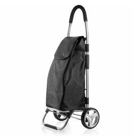TravelZ - Boodschappenwagen - trolley - opvouwbaar - Zwart