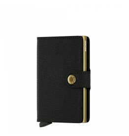 Secrid Secrid Mini Wallet Crisple Black Gold pasjeshouder