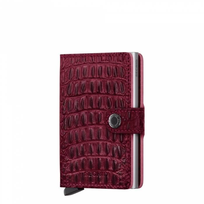Secrid Secrid Mini Wallet Nile Red leren uitschuifbare pasjeshouder