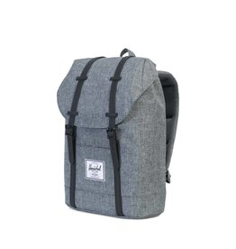 Herschel Herschel Retreat Raven Crosshatch / Black Rubber