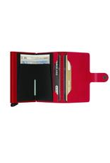 Secrid Secrid Mini Wallet Card Protector Red Red leren uitschuifbare pasjes bescherming portemonnee