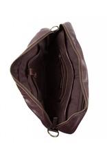 Cowboysbag Cowboysbag - Bag Washington - bruine leren 15.6 inch laptoptas - Brown