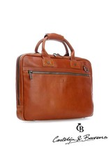 """Castelijn en Beerens Castelijn & Beerens Firenze Business Laptopbag 15.6"""" licht bruin"""