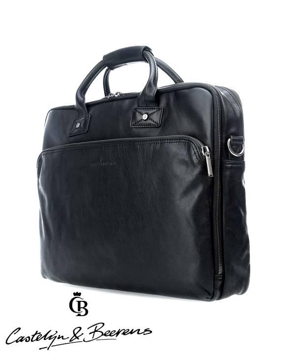 """Castelijn en Beerens Castelijn & Beerens Firenze Business dubbelvaks Laptopbag 15.6"""" zwart"""