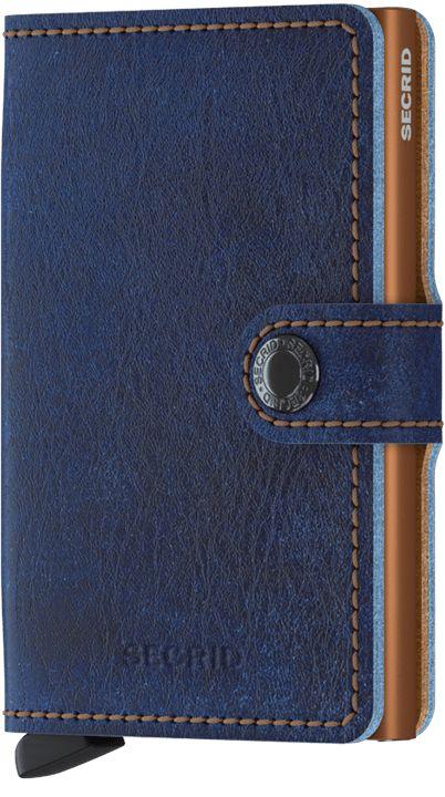 Secrid Secrid Mini Wallet Indigo 5 leren uitschuifbare pasjeshouder
