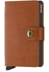 Secrid Secrid Mini Wallet Original Cognac Brown leren  pasjeshouder