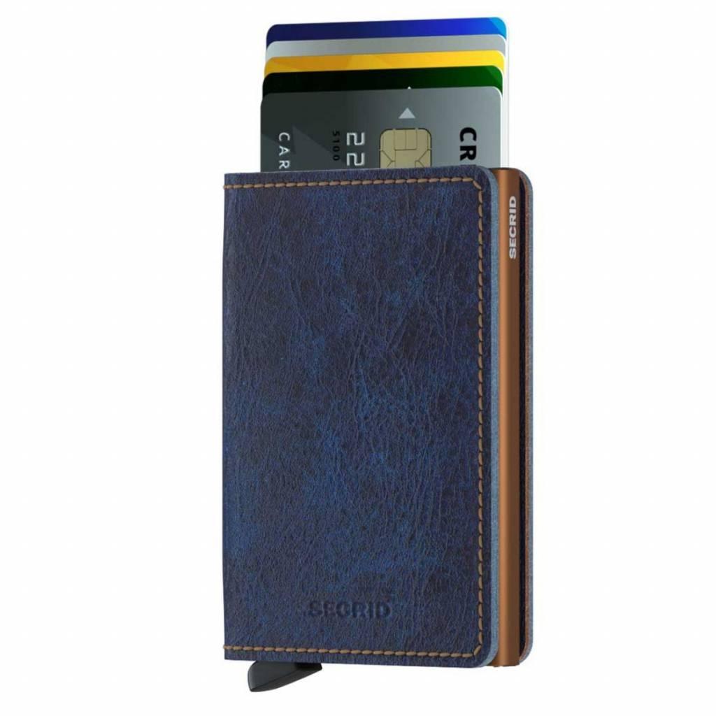 34b7a381263 Secrid Slim Wallet Indigo 5 leren uitschuifbare pasjeshouder portemonnee
