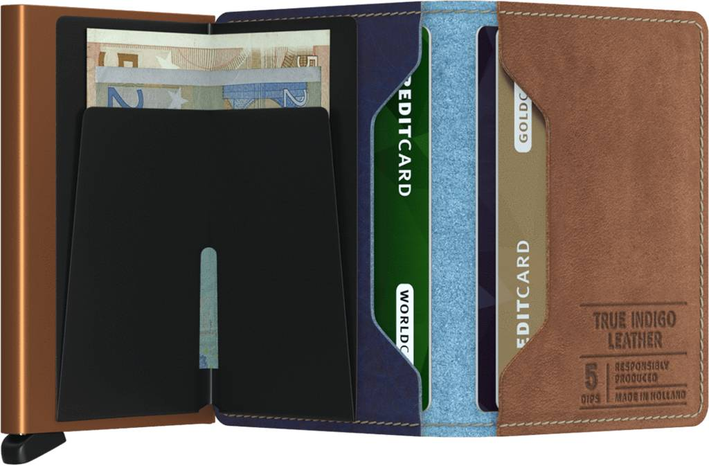 27d32d60d6b ... Secrid Secrid Slim Wallet Indigo 5 leren uitschuifbare pasjeshouder  portemonnee