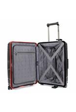 Line Line Hoxton - handbagage reiskoffer - 55 cm - Black / Red