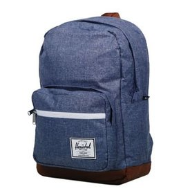 Herschel Herschel Pop Quiz Dark Chambray Crosshatch / Tan Synthetic Leather