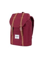 Herschel Herschel Retreat Windsor Wine/Tan Synthetic leather rugzak  schooltas met 15 inch laptopvak