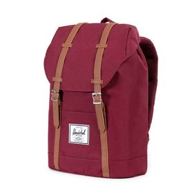 Herschel Herschel Retreat Windsor Wine/Tan Synthetic leather rugzak met laptopvak