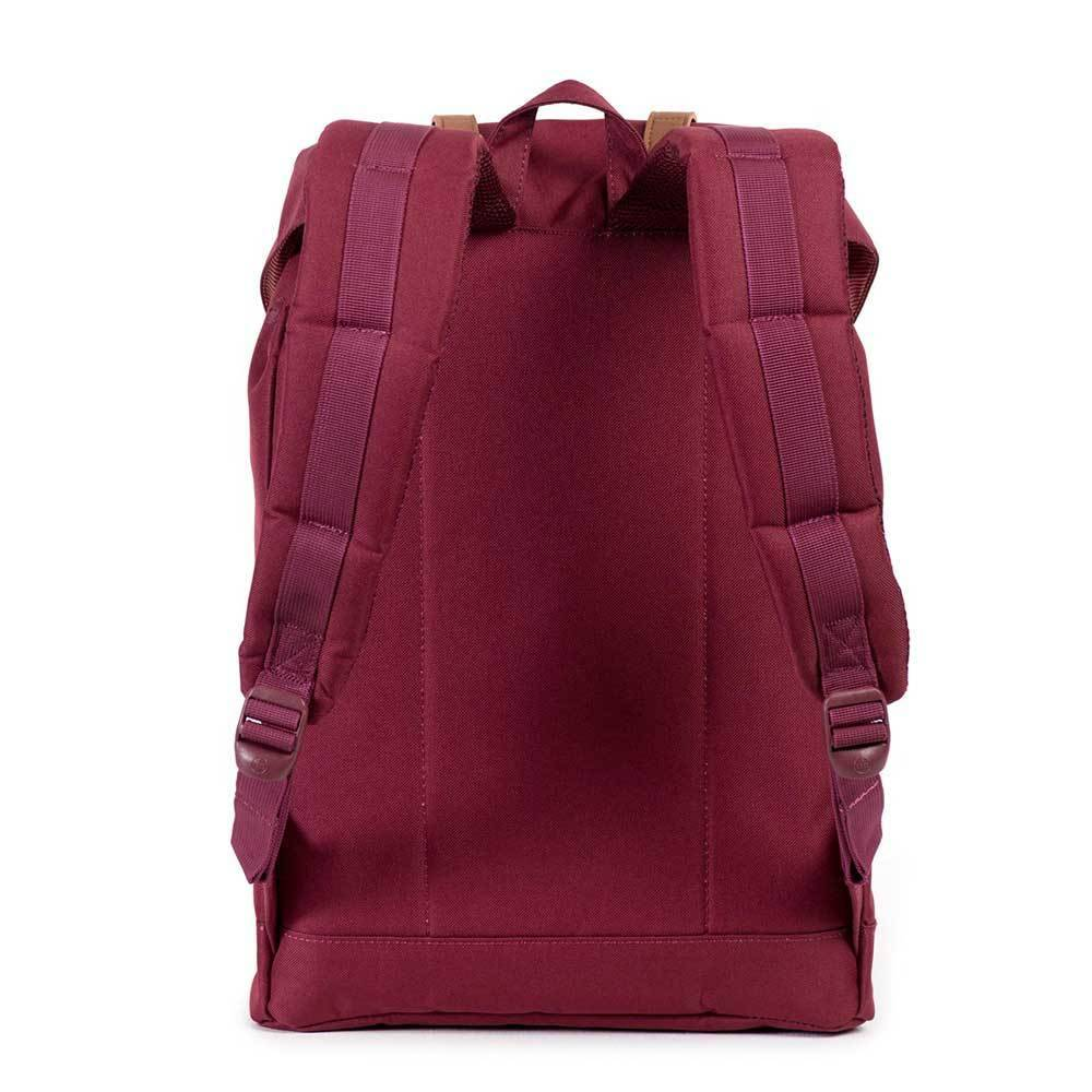 048181f9900 ... Herschel Herschel Retreat Windsor Wine/Tan Synthetic leather rugzak  schooltas met 15 inch laptopvak