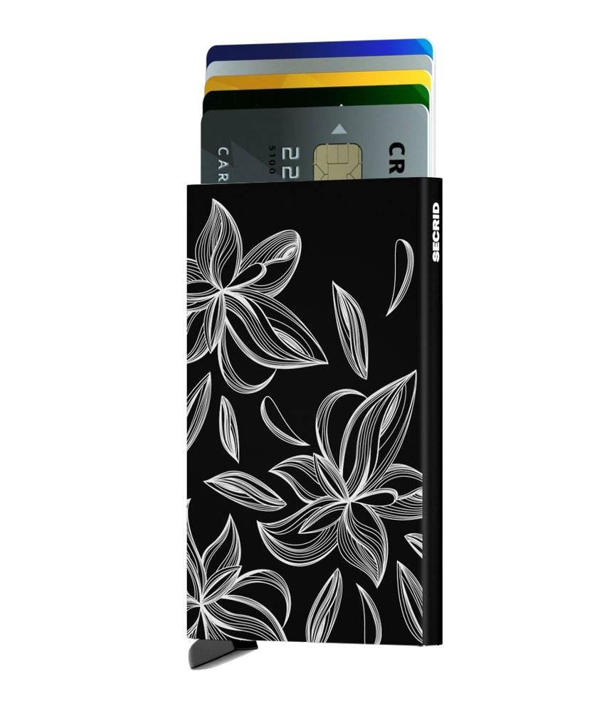 Secrid Secrid Cardprotector Laser Magnolia Black uitschuifbare pasjes bescherming pasjeshouder