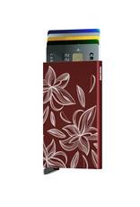 Secrid Secrid Cardprotector Laser Magnolia Bordeaux uitschuifbare pasjes bescherming pasjeshouder