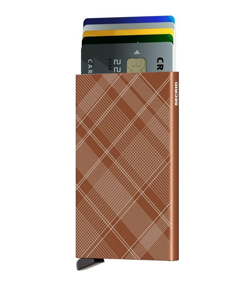 Secrid Secrid Cardprotector Laser Tartan Rust uitschuifbare pasjes bescherming pasjeshouder