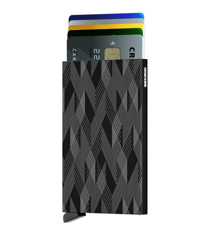 Secrid Secrid Cardprotector Laser Zigzag Black uitschuifbare pasjes bescherming pasjeshouder