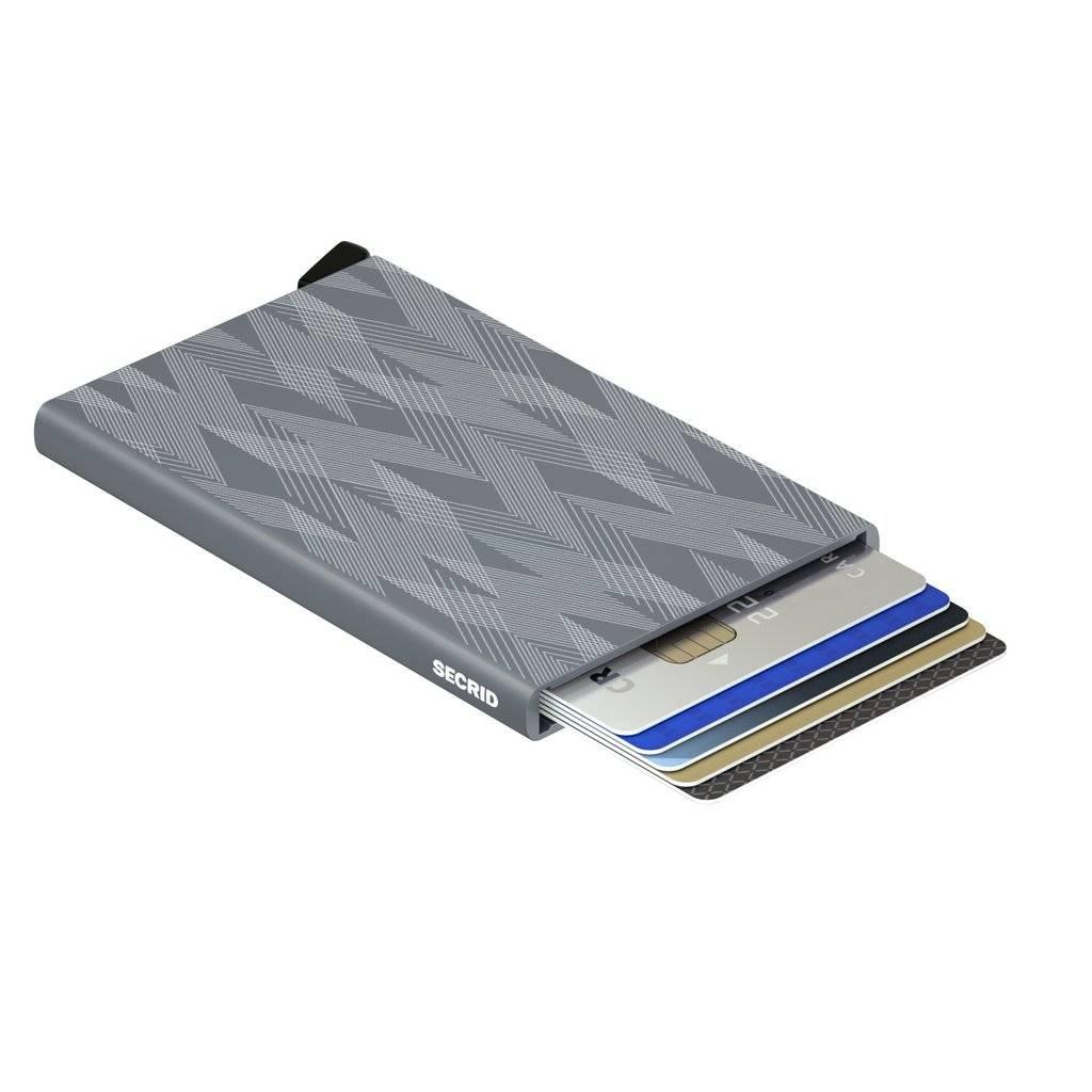 Secrid Secrid Cardprotector Laser Zigzag Titanium uitschuifbare pasjes bescherming pasjeshouder