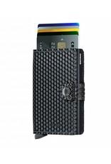 Secrid Secrid Mini Wallet Card Protector Cubic Black leren uitschuifbare pasjeshouder