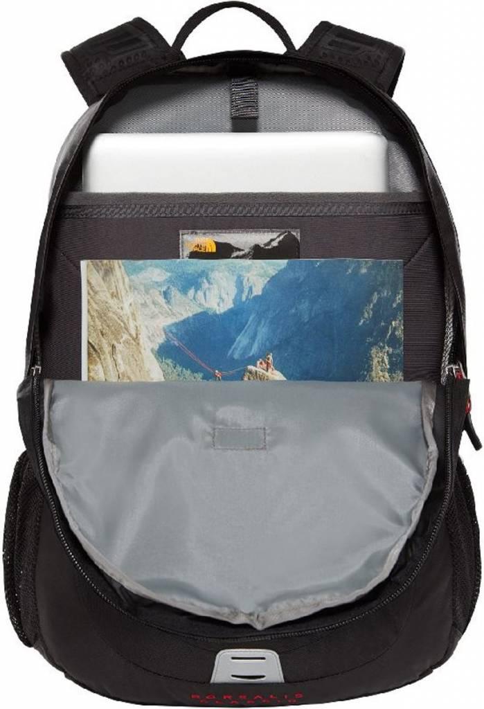 The North Face The North Face Borealis classic TNF zwart en rood oersterke rugtas met 15.6 inch laptop vak en tablet