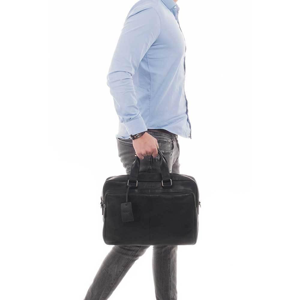 "Burkely Burkely Antique Avery Workbag 15.6"" zwart"