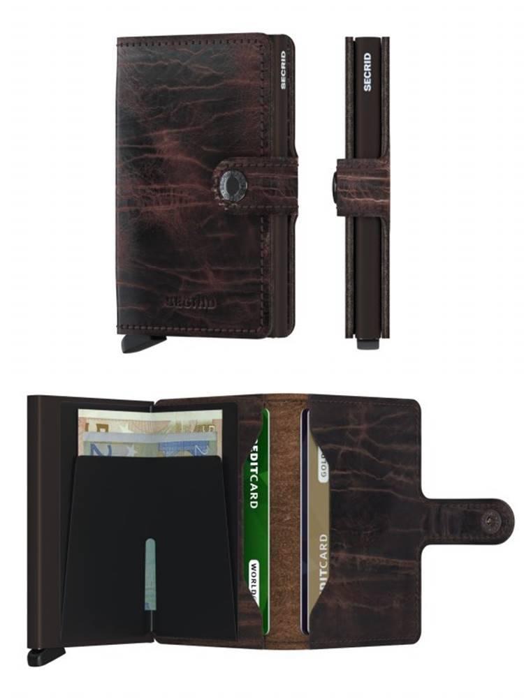 Secrid Secrid Mini Wallet Dutch Martin Cacao-Brown leren uitschuifbare pasjeshouder