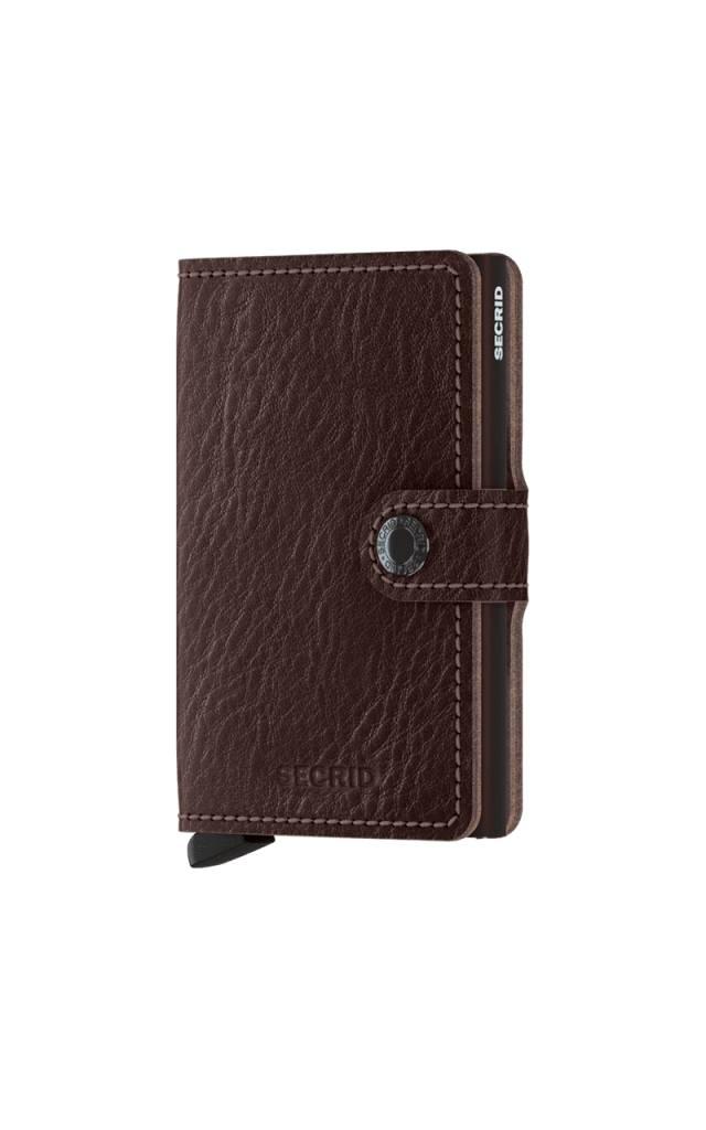 Secrid Secrid Mini Wallet Veg Espresso uitschuifbare pasjeshouder