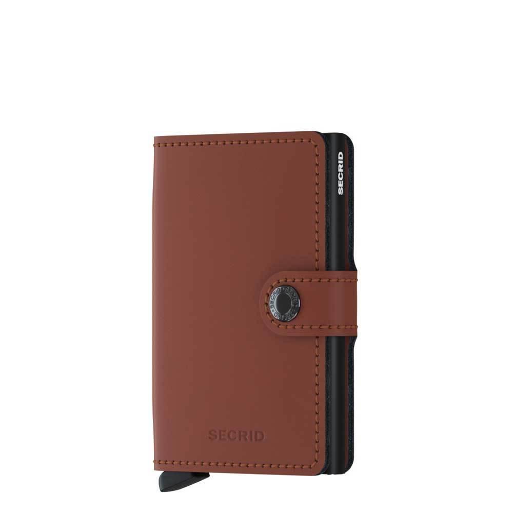 Secrid Secrid Mini Wallet Matte Matte Brick leren pasjeshouder