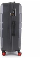 Line Line Speaks - Grote Reiskoffer - 76 cm - Dark Grey