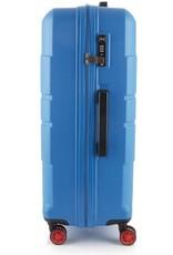 Line Line Speaks - Grote Reiskoffer - 76 cm - Blue
