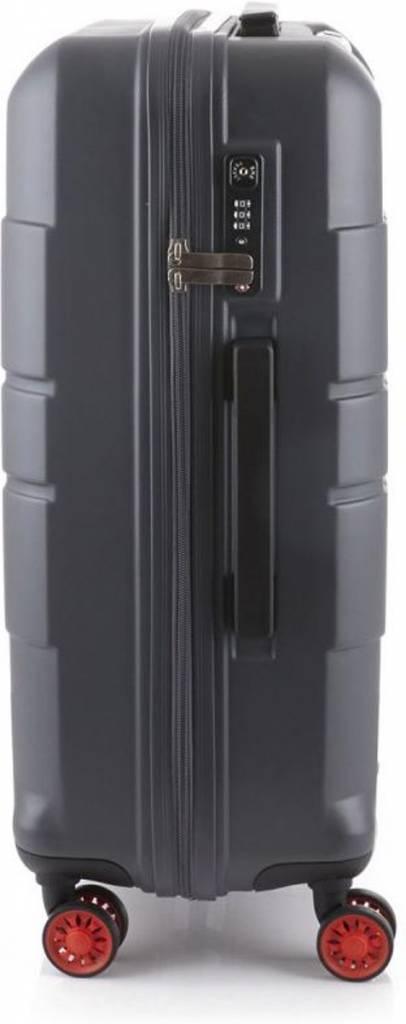 Line Line Speaks - Middenmaat Reiskoffer - 67 cm - Dark grey