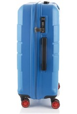 Line Line Speaks - Middenmaat Reiskoffer - 67 cm - Blue