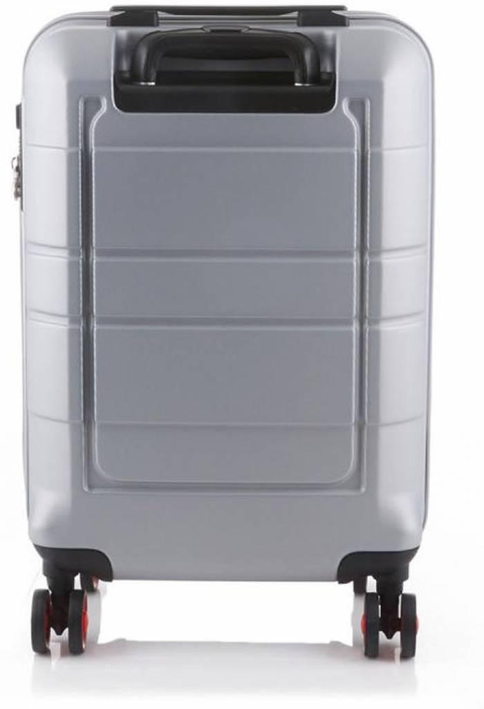 Line Line Speaks - Handbagage Reiskoffer - 55cm - Zilver