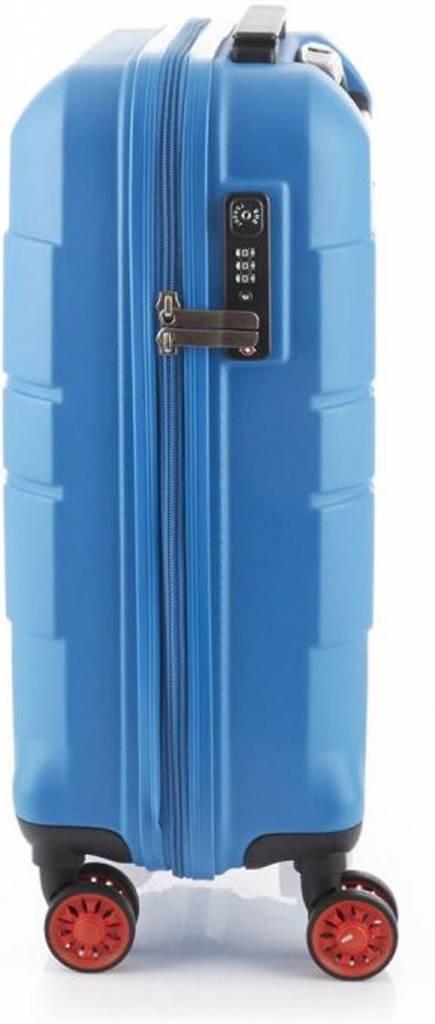 Line Line Speaks - Handbagage Reiskoffer - 55cm - Blue