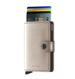 Secrid Secrid Mini Wallet Metallic Champagne Brown pasjeshouder