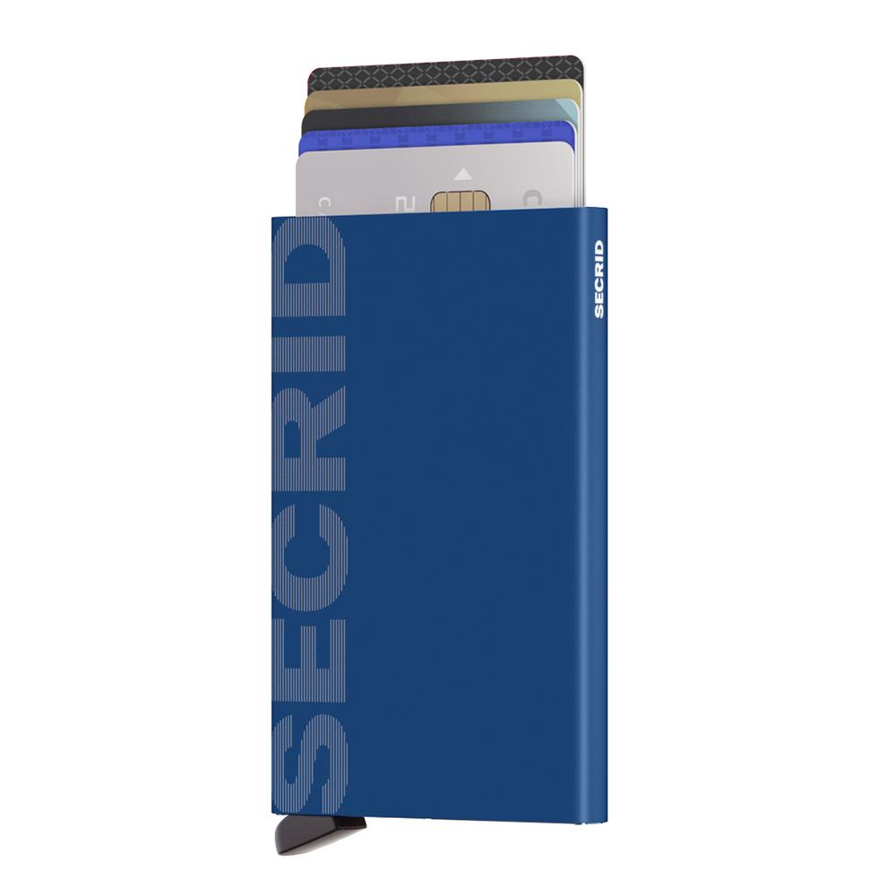 Secrid Secrid Cardprotector Laser Logo Blue uitschuifbare pasjes bescherming pasjeshouder