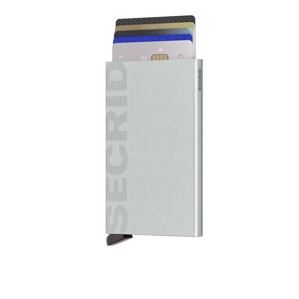 Secrid Secrid Cardprotector Laser Logo Brushed Silver uitschuifbare pasjes bescherming pasjeshouder