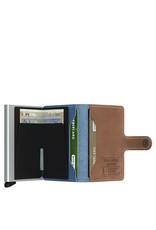 Secrid Secrid Mini Wallet Indigo 3 leren uitschuifbare pasjeshouder