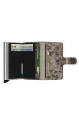 Secrid Secrid Mini Wallet Card Protector Crisple Taupe Camo leren uitschuifbare pasjeshouder