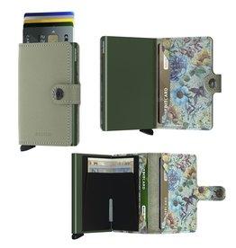 Secrid Secrid Mini Wallet Crisple Pistachio Floral pasjeshouder