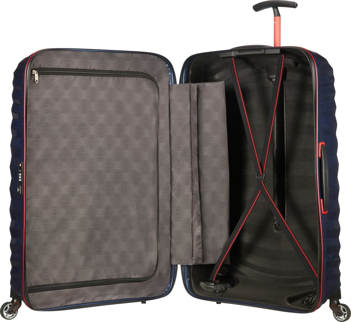 Samsonite Samsonite Lite-Shock Sport Spinner 75 Nautical Blue/Red Curv reiskoffer