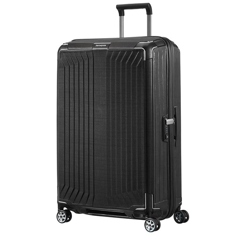 Samsonite Samsonite Lite-Box Spinner 81 Zwart - lichtgewicht grote reiskoffer