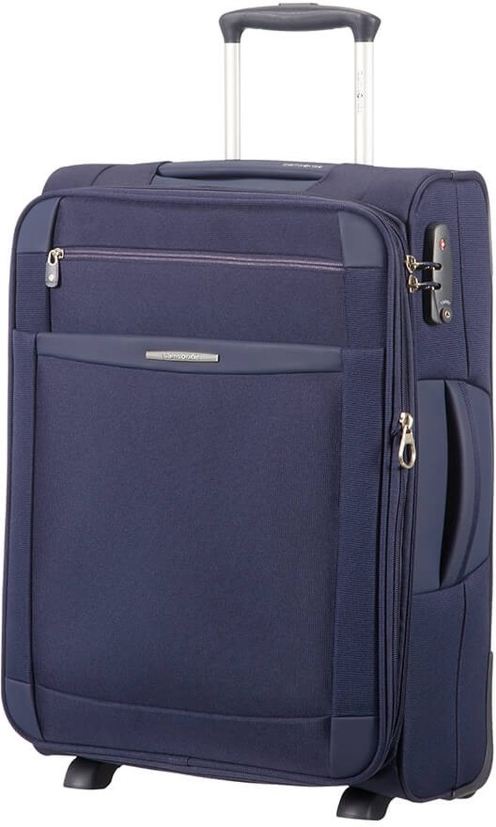 Samsonite Samsonite Dynamo Upright exp Navy Blue 55x40x20 cm handbagage koffer