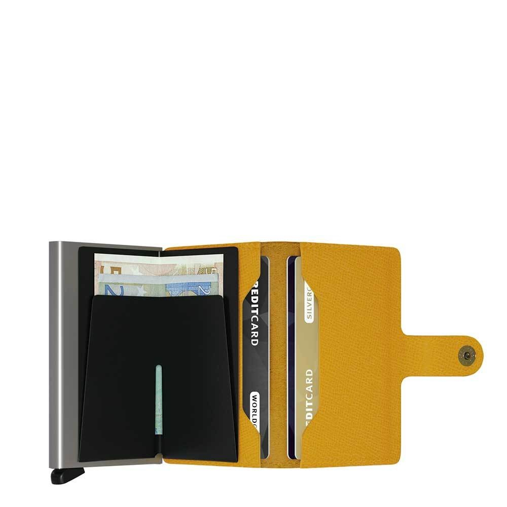 Secrid Secrid Mini Wallet Card Protector Crisple Amber leren uitschuifbare pasjeshouder