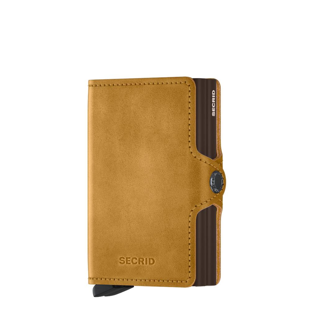 Secrid Secrid Twin Wallet Vintage Ochre leren uitschuifbare pasjes bescherming portemonnee Card Protector