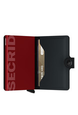 Secrid Secrid Mini Wallet Matte Black & Red leren pasjeshouder