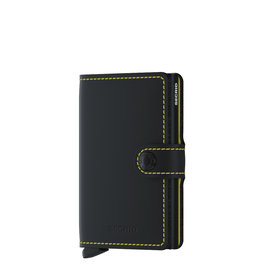 Secrid Secrid Mini Wallet Matte Black & Yellow pasjeshouder