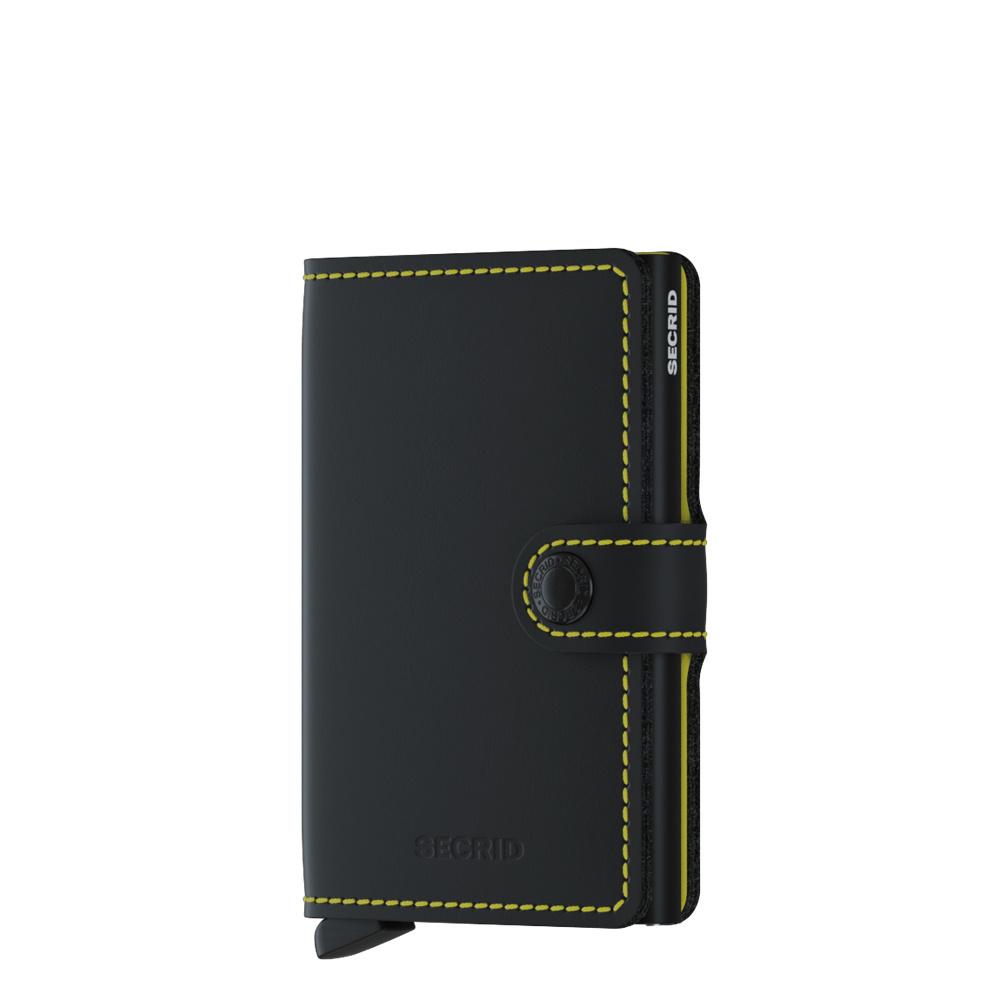 Secrid Secrid Mini Wallet Matte Black & Yellow leren pasjeshouder